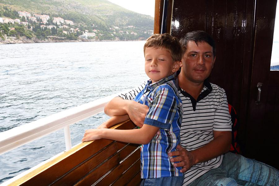 Dubrovnik, плывем на остров Локрум