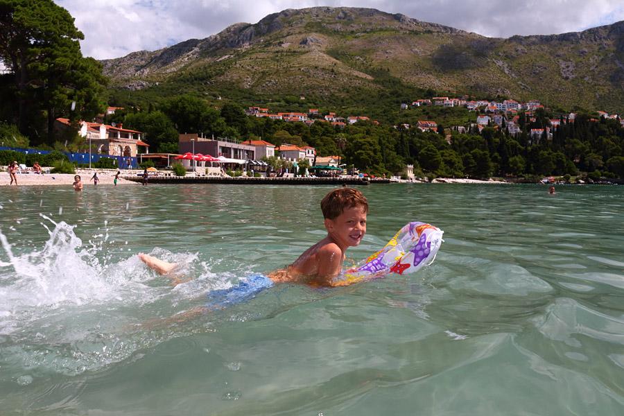 Srebreno, пляж