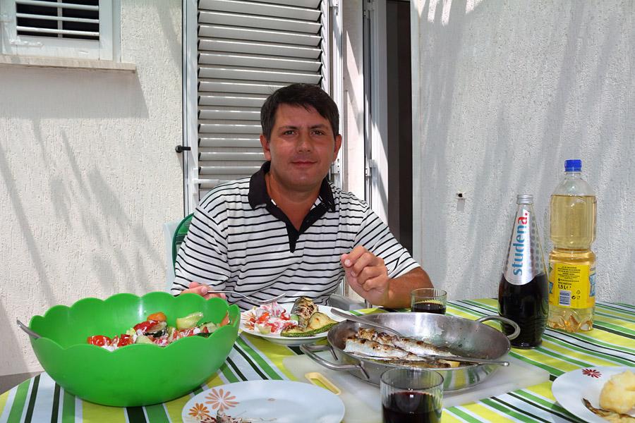 Srebreno, угощение от наших хозяев