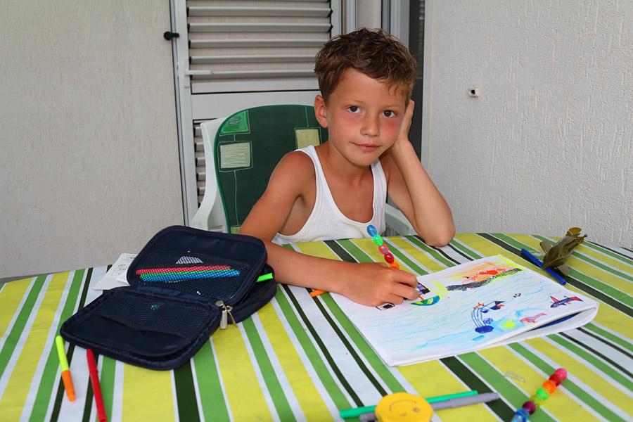 Srebreno, на террасе