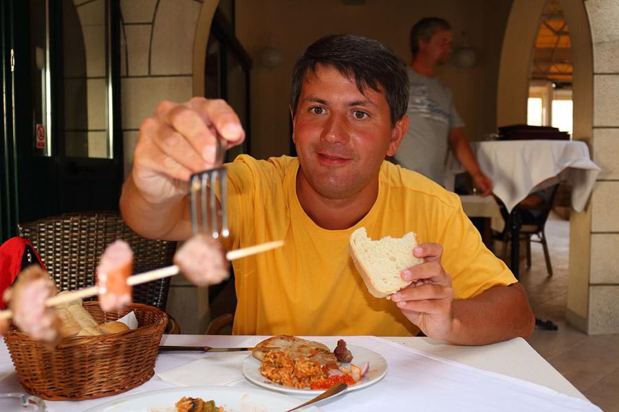 Srebreno, прощальный ужин