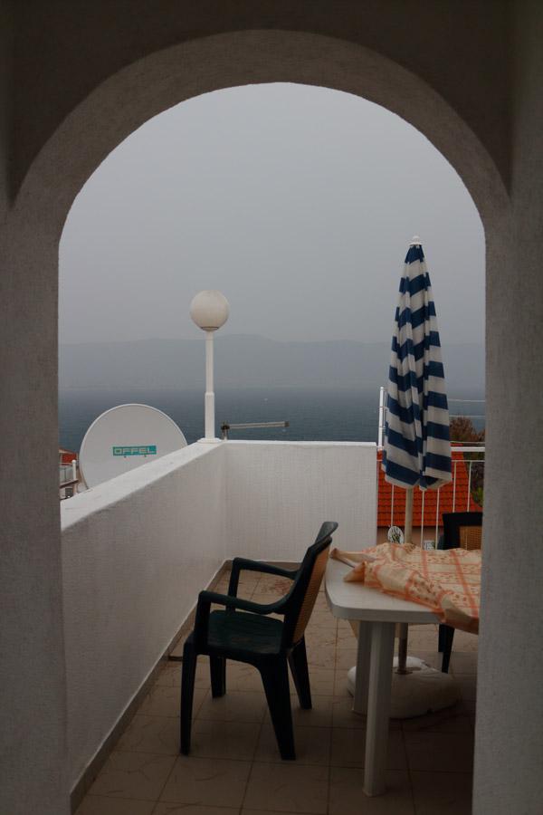 Остров Ciovo, Slatine, приближается дождь