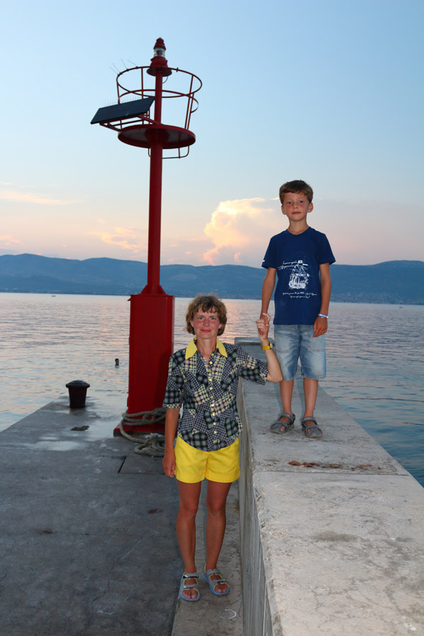 Остров Ciovo, Slatine, причал