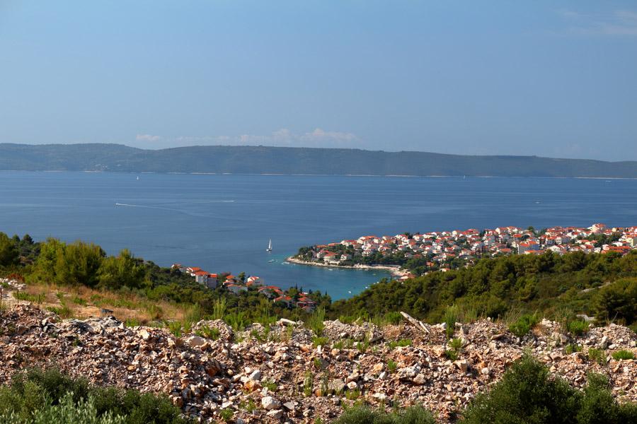 Остров Ciovo, вид на Okrug Gornji