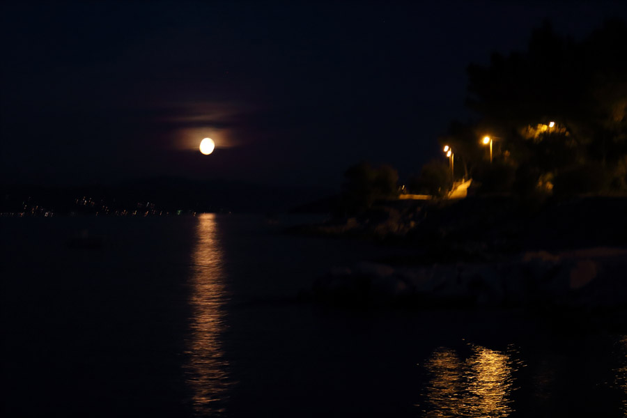 Остров Ciovo, ночь в Slatine
