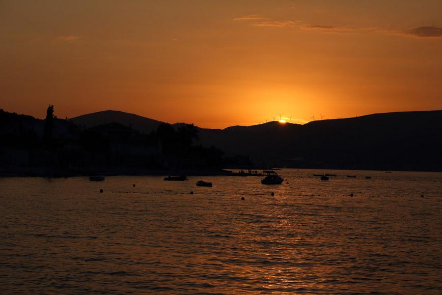 Остров Ciovo, Slatine, закат