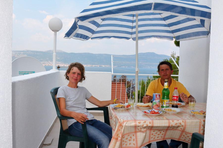 Остров Ciovo, Slatine, прощальный обед