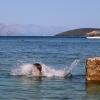 Остров Ciovo, Slatine, прыжки в море