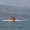 Остров Ciovo, Slatine, на доске для серфинга