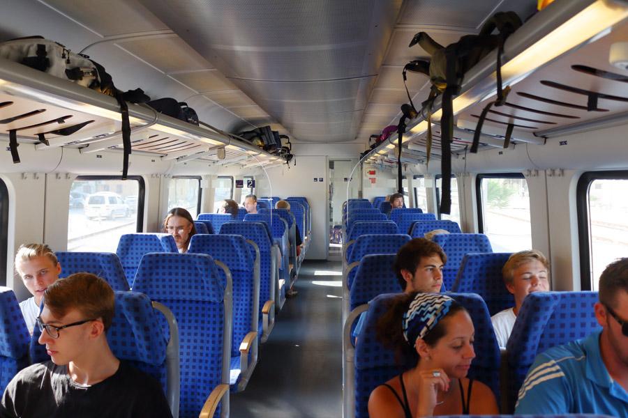 В поезде Сплит - Загреб