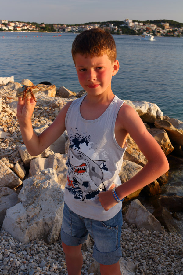 Остров Ciovo, Okrug Gornji, с морской звездой