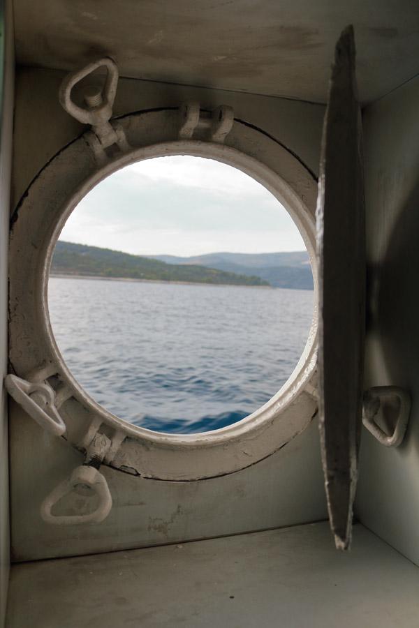 Обратный путь с острова Drvenik Veli.