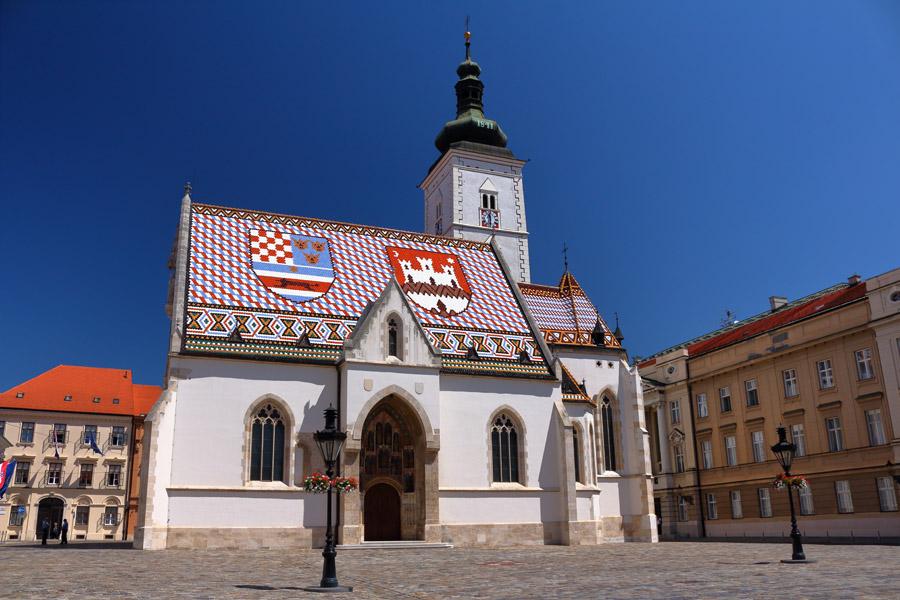 Загреб, Верхний город, церковь Святого Марка