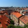 Вид на Загреб со смотровой площадки Верхнего города